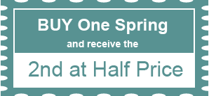 Buy One Spring and receive the 2nd at Half Price